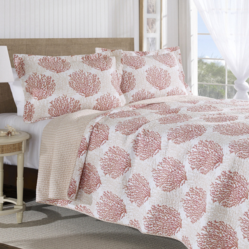 sheridan coral reef quilt cover set