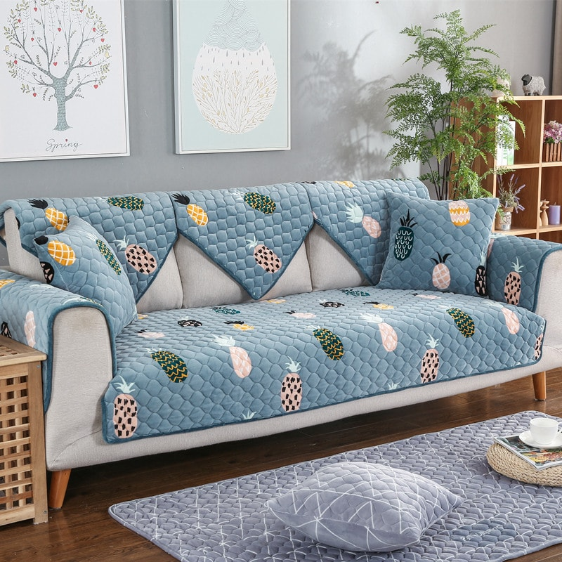 print quilted sofa covers