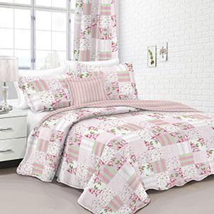 HJ Home Fashion Multi Color Queen Quilt Set