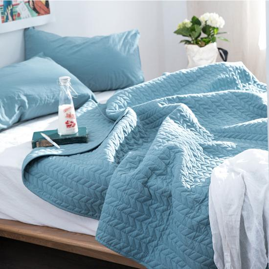 garment washed bedspread and coverlets