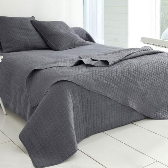 Gray Softest Stone Washed Quilt Set Twin 2pc set