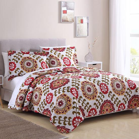 Ogee quilted bedspreads and coverlets