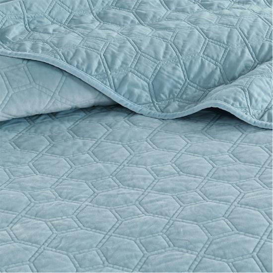 solid quilted coverlet set