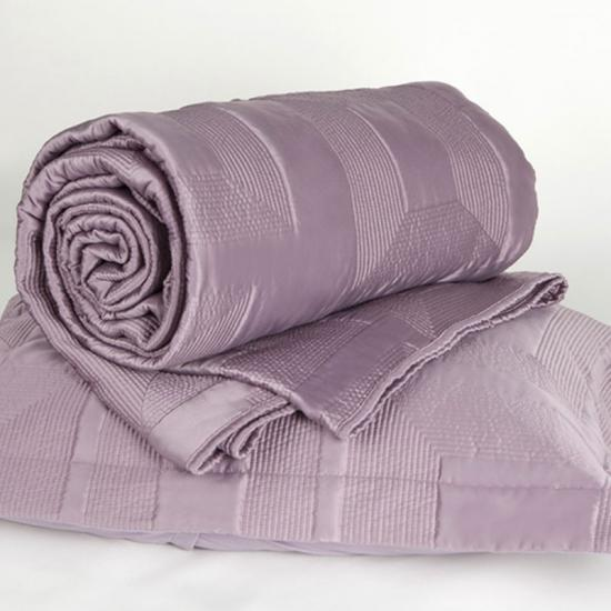 solid bedding satin quilted bedspread